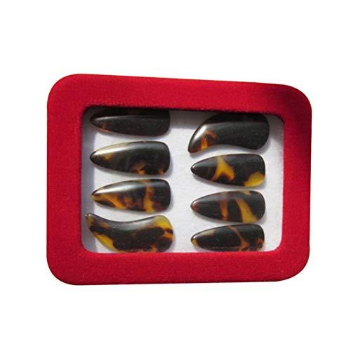 BESPORTBLE Professionelle natürlich nachgeahmte hochwertige Nagel Groove Fingernagel Zither für Anfänger, um Fingerpicks Zither Zubehör Größe L