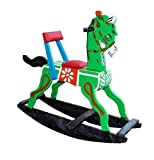 KUMUTHA COLLECTIONS Wooden Rocking Horses (Multicolour)