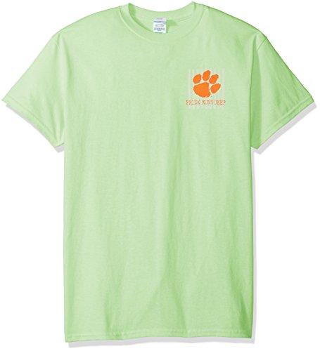 Auburn Damen T-shirt (New World Graphics NCAA Spirit Short Sleeve T-Shirt, Unisex - Erwachsene, Auburn Spirit, Mint, Medium)