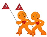 StreetBuddy - Warnfigur Kindersicherheit 2er-Pack Orange