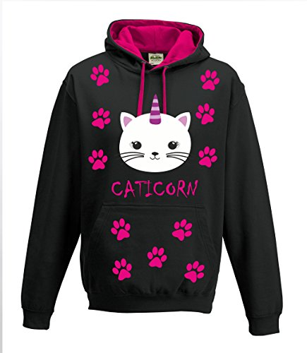 Sweat-shirt--capuche-T-shirt-Femme-Pull-over-caticorn