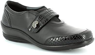 Padders - Zapatos de vestir de piel para mujer Negro Schwarz/Croc