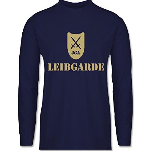 JGA Junggesellenabschied - Leibgarde - Longsleeve / langärmeliges T-Shirt für Herren Navy Blau