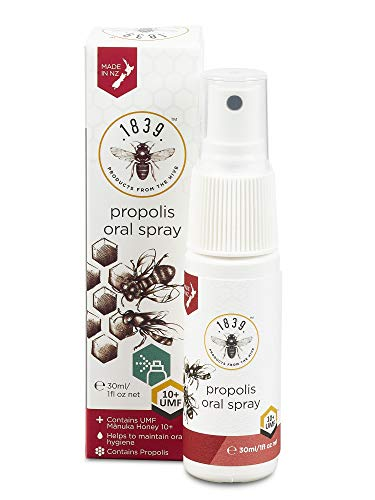 1839 Honey Propolis Thorat Spray With UMF 10+, 0.03g
