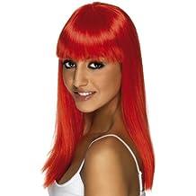 Smiffys - Peluca roja con glamour para mujer