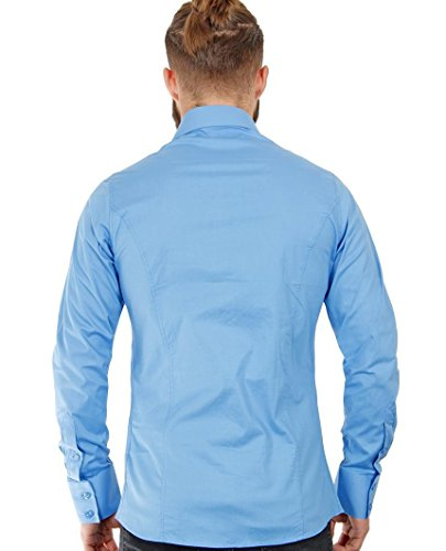 Redbridge Herren Regular Fit Freizeithemd R-2111 Mittelblau