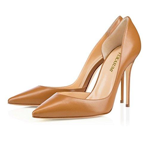 Party Schuhe tone Stilettos Edefs Spitze Mud Damen 100mm High Faschion Heels Pumps x08xwzqO