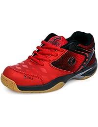 Feroc xega RED Black Badminton Shoe