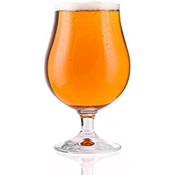 Stölzle Lausitz - Vasos de cerveza tipo tulipán (6 unidades, cristal), vidrio, transparente, 500 ml