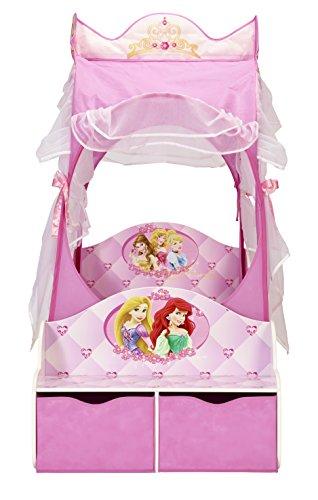 Kleinkinderbett für Mädchen im Kutschendesign von Disney Prinzessin, mit Baldachin - 4