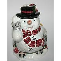 Christmas Snowman Ornament yuletide decorazione vacanze di Natale regalo decorazione Limited Edition ornamentali Snowtime - Vintage Ceramica Mold