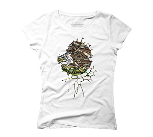 ABSTRACT BALD EAGLE Women's Graphic T-Shirt - Design By Humans White