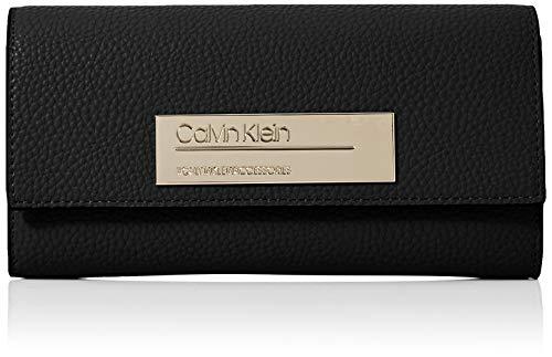 Calvin Klein Sided Large Trifold, Damenportemonnaie, Schwarz (Schwarz)