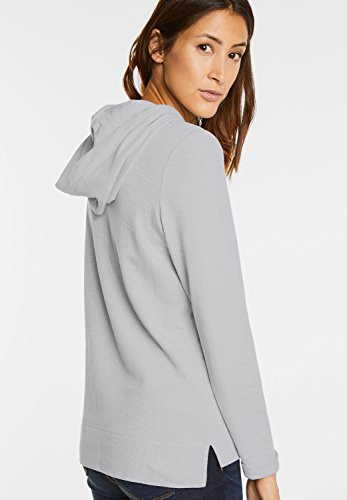 Street One Damen Hoody mit Print Cosine lunar grey (grau)