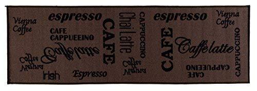 Onloom 1100391 - Alfombra de Cocina con diseño de café, marrón, 60 x 180 cm