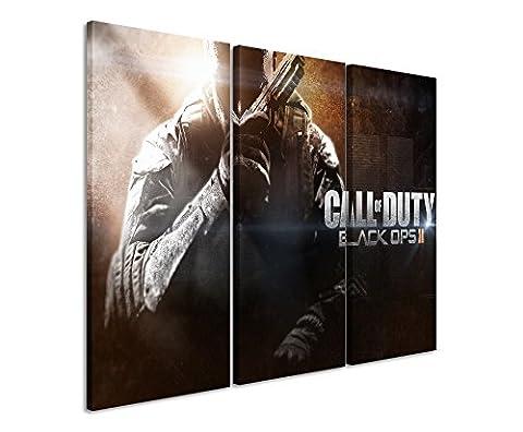 Lot de 3Impression sur toile Motif Call de Duty Black Ops 22013_ _ _ _ _ _ _ _ _ _ _ _ _ _ _ _ _ _ _ _ _ _ _ _ _ _ _ _ _ _ _ _ _ 3x 90x 40cm, Total Taille 120x 90cm _ Ausführung Finition superbe Impression sur toile comme un véritable Tableau mural sur toile sur