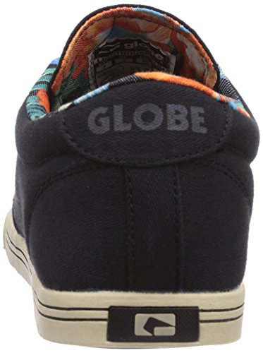 Globe Lighthouse-Slim Unisex-Erwachsene Sneakers Schwarz (black/hawaiian 10747)