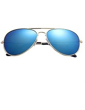 Zarupeng Mujeres Hombres Classic Unisex Retro Sunglasses Metal Frame