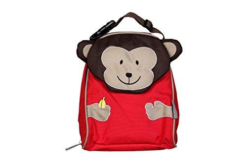 My Milestones PVC-Free Kids/Toddler/3D Animal faced Premium Lunch Bag/Preschool Bag – Monkey