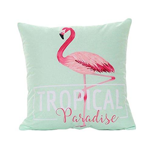 beiguoxia Fashion Flamingo KISSEN Fall Taille Überwurf Kissenbezug Sofa Home Decor, Polyester, 2#, Einheitsgröße