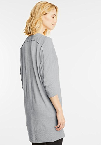 Street One - Gilet - Uni - Manches Longues - Femme gris gris cyber grey melange (grau)
