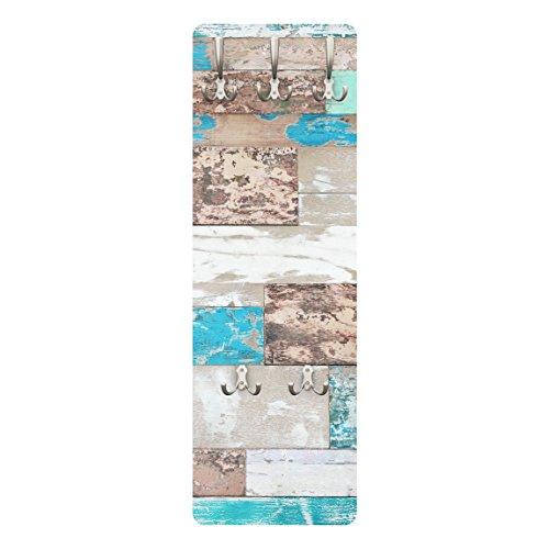 PPS. Imaging Coat Rack–Maritime Planks 139x 46x 2cm, Garderobe, Wandgarderobe, Kleiderhaken, Wandgarderobe, Kleiderständer, Garderobenständer, Dimension H: 139cm x 46cm