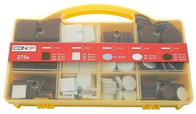 CON:P B34140 Filzgleiter Sortiment, 275-teilig von CON:P auf TapetenShop