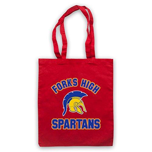 Inspiriert durch Twilight Forks High Spartans Inoffiziell Umhangetaschen Rot