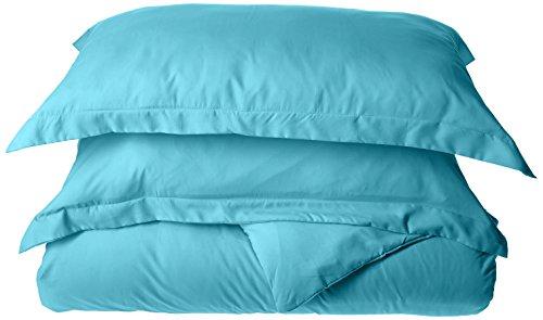 Luxus Bettbezug Set auf Amazon.–höchste Qualität eleganten Komfort faltenfrei 1500Fadenzahl Ägyptische Qualität 3-teiliges Bettbezug Set–Blumen Collection, Mikrofaser, Türkis, Twin/Twin XL