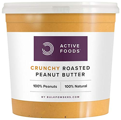 BULK POWDERS Natural Roasted Peanut Butter Tub, Crunchy, 1 kg
