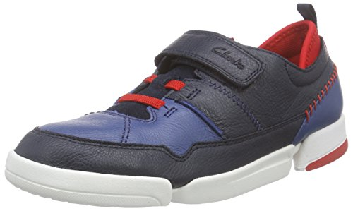 Clarks Tri Scotty Jnr Jungen Sneakers Blau (Navy Combi)