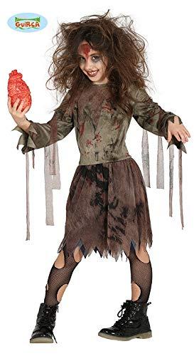 Horror Zombie Mädchen Kostüm für Kinder Gr. 110 - 146, Größe:140/146