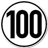 2 Stück 20cm Aufkleber Sticker 100 km/h kmh Geschwindigkeit Auto Pkw Bus Lkw Anhänger Schild