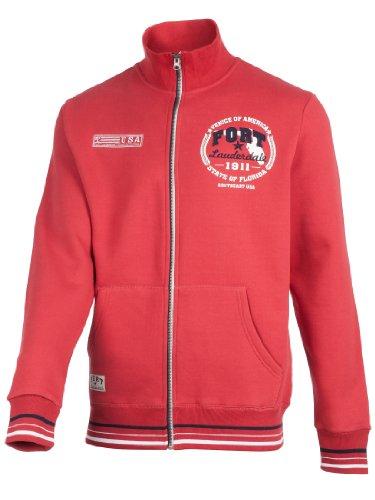 Ultrasport Herren Sweatjacke Tampa, Rot, L, 1201-180
