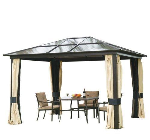 Carpa 3x3.6m Cenador Estructura de Aluminio 4 Paravientos laterales + mosquitera