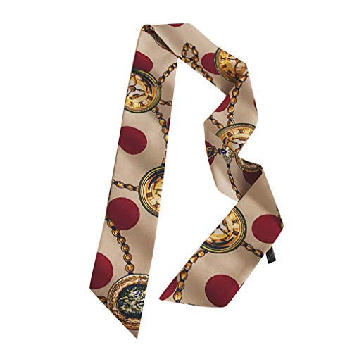 Oliviavan Damen Krawatte Elegant Vintage Retro Schal Dekorativer koreanischer Wilder Platz Superfeenschal Klein frisch Empfohlen Frühling und Herbst Schal 87cm