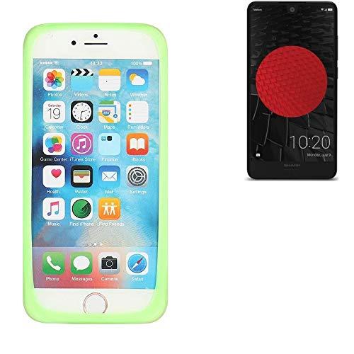 K-S-Trade Für Sharp Aquos C10 Silikonbumper/Bumper aus TPU, Grün Schutzrahmen Schutzring Smartphone Case Hülle Schutzhülle für Sharp Aquos C10