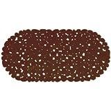 MSV 140883 - Mat bañera, PVC, guijarros efecto, 35 x 68 x 0,1 cm, color: el chocolate