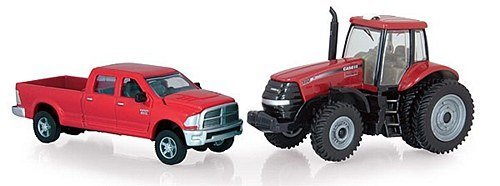 ertl-dodge-pickup-with-180-magnum-tractor-164-scale
