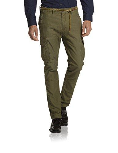 Scotch & Soda 15040880010-Pantaloni Uomo,    Verde (army 66) W33/ L32