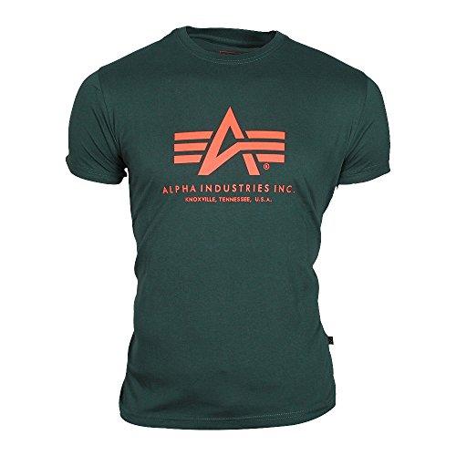 Alpha Industries Herren Basic T-Shirt Grün