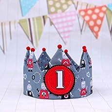 Corona de cumpleaños de tela se puede personalizar con el ...