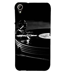 Fiobs Designer Phone Back Case Cover HTC Desire 828 Dual Sim ( Dj Disk Black Funky Music Sounds Track )