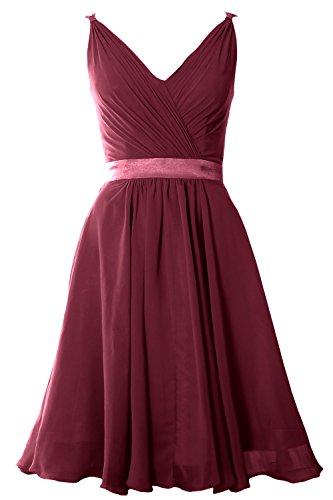 MACloth - Robe - Trapèze - Sans Manche - Femme Rouge - Rouge vin