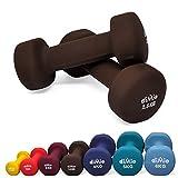 diMio - Manubri in neoprene, 0,5-6kg, in confezione doppia, Soft Grip, per Fitness, allenamento di resistenza e muscoli