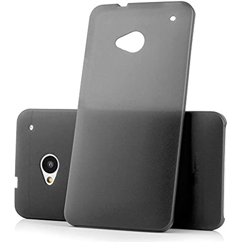 Ultra Thin Case MC24® per HTC One M7 in nero - sottile custodia protettiva trasparente in polipropilene
