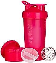 BlenderBottle ProStak Shaker per proteine 650 ml | con 3 accessori | BlenderBall