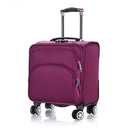 XDD 18-Zoll-Trolley für Frauen und Männer Business-Koffer Travel Soft Box Boarding The Chassis Rolling Laptop-Tasche für Business Travel Academy,B -