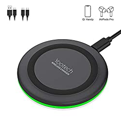 Wireless Charger Ladepad,YOOTECH 10W Fast kabellose Ladestation Induktion ladegerät für alle Qi Phones wie iPhone 11/11 Pro/11 Pro Max/XS MAX/XR/XS/X/8/8 Plus,Galaxy Note 10/S10e/S10/S9,AirPods usw.