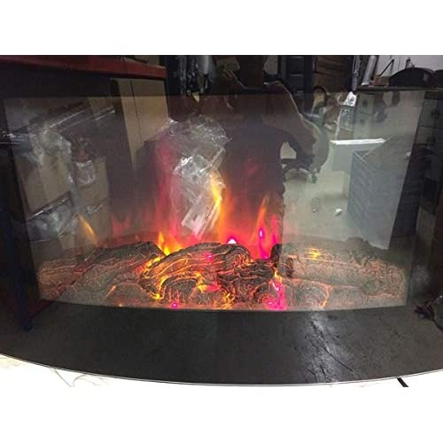 41hcLb0jrKL. SS500  - TruFlame WALL MOUNTED ELECTRIC FIRES FIRE FIREPLACE CURVED BLACK GLASS LOG EFFECT FLAME NEW!